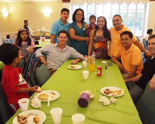With the Filipino clan!